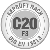 Prüfsiegel C20 F3