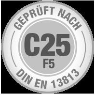 Prüfsiegel C25 F5